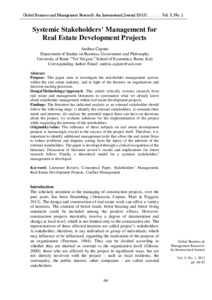 Literature review on real estate management system
