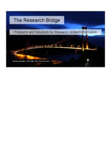 The Research Bridge: problems and solutions for research