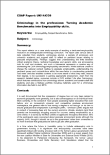 academic and employability skills report This report and a summary version  notion of and need for employability skills is brought up time and  learning to be employable practical lessons from.