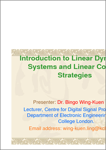 Introduction to linear dynamical systems and linear control