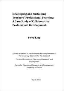 thesis professional development of teachers Redesigning professional development one school found a way to provide teachers time for professional development without creating extra work for the teachers.