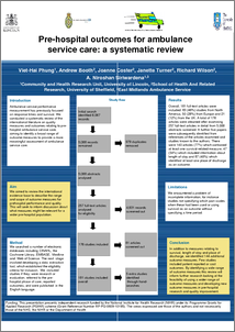 Prehospital Outcomes For Ambulance Service Care